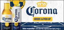 2021 Corona Extra Soccer Flow eComm - Large Banner - Order Pick Up CTA - 320 x 150 - Online use only – not for print