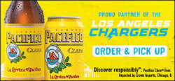 2021 Pacifico LA Chargers- eComm - Large Banner - Order & Pickup CTA - 320 x 150 - Online use only – not for print