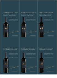 Robert Mondavi Winery 2018 Cabernet Sauvignon Holiday FY22 6 Up Shelf Talker