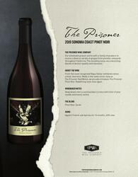2019 The Prisoner Sonoma Coast Pinot Noir NSRP Tasting Note