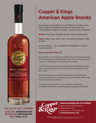 Copper and Kings American Apple Brandy Sell Sheet