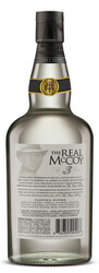 The Real McCoy® Distiller's Proof 3 Year Single Blended Aged White Rum 750ml 92 Proof Bottle Shot - Back