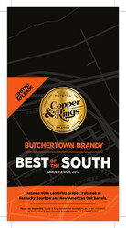 Copper & Kings Butchertown Brandy Shelf Talker