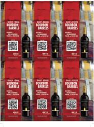 Robert Mondavi Private Selection BBA Cabernet Sauvignon Holiday FY22 6 Up Shelf Talker