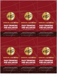 Copper & Kings American Apple Brandy Holiday FY22 6 Up Shelf Talker