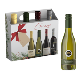 Variety Wine FY22 Gift Set Red & White Wine 375ml Bottle 4 pk COPHI - No Text