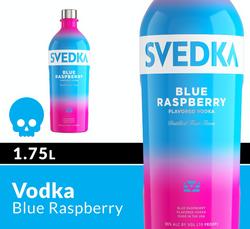 SVEDKA Blue Raspberry 1.75L Bottle Halloween Icon COPHI - Temporary Image