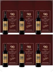 Ruffino 2015 Riserva Ducale Oro Chianti Holiday FY22 Wine Advocate 90 Points 6 Up Shelf Talker