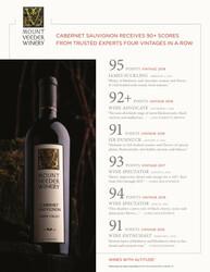 Mount Veeder Winery Cabernet Sauvignon Hot Sheet Multiple Scores