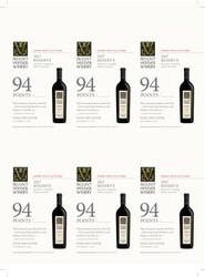 Mount Veeder Winery 2017 Reserve Holiday FY22 Wine Spectator 94 Points 6 Up Shelf Talker