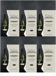 The Prisoner Chardonnay Holiday FY22 6 Up Shelf Talker