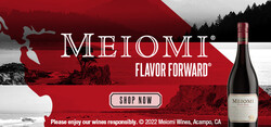 Meiomi Pinot Noir Flow FY23 Large Digital Banner - Shop Now CTA - 320x150 - For Online Use Only, Not for print or paid media