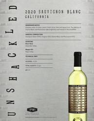 Unshackled 2020 Sauvignon Blanc NSRP Tasting Note