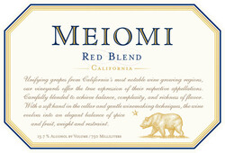 Meiomi Red Blend 750ml Front Label