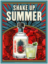 Mi Campo Tequila Blanco Summer FY22 Small Poster