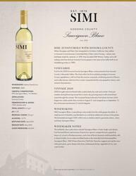 2020 SIMI Sonoma County Sauvignon Blanc Tasting Note