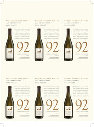 Robert Mondavi Winery 2018 Chardonnay Holiday FY22 James Suckling 92 Points 6 Up Shelf Talker