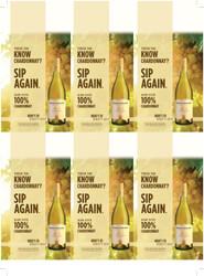 Robert Mondavi Private Selection 100% Chardonnay Holiday FY22 6 Up Shelf Talker