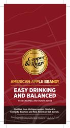 Copper & Kings American Apple Brandy Shelf Talker