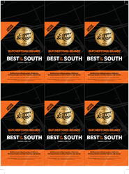 Copper & Kings Butchertown Brandy Holiday FY22 Garden & Gun Best Of The South 6 Up Shelf Talker