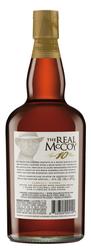 The Real McCoy® Limited Edition 10 Year Virgin Oak & Bourbon Cask Aged Rum, 750ml 92 Proof Bottle Shot - Back
