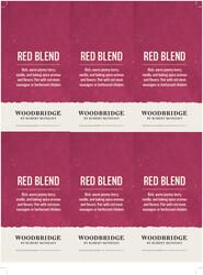 Woodbridge Red Blend Holiday FY22 6 Up Shelf Talker