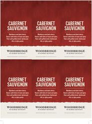Woodbridge Cabernet Sauvignon Holiday FY22 6 Up Shelf Talker