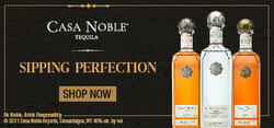 Casa Noble Sipping Perfection Large Digital Banner - Shop Now CTA – 320x150 - For Online Use Only - Not for print or paid media