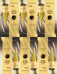 2020 Robert Mondavi Private Selection Buttery Chardonnay Shelf Talker Blue Lifestyle 2021, Anthony Dias Blue 90 Points Gold Medal