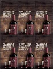 Cooper & Thief 2018 Pinot Noir Holiday FY22 6 Up Shelf Talker