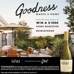 SIMI Sonoma County Chardonnay Summer Sweeps Summer FY22 Facebook Digital Banner - No CTA - 1x1 - Online Use Only, Not for print