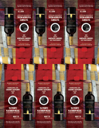 2019 Robert Mondavi Private Selection BBA Cabernet Sauvignon Shelf Talker 2021 San Diego Wine & Spirits Challenge 94 Points Platinum Medal