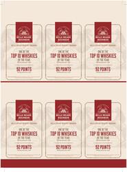 Belle Meade Reserve Bourbon Holiday FY22 Whisky Advocate 92 Points 6 Up Shelf Talker