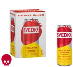 SVEDKA Strawberry Lemonade Vodka Soda 355ml Can 4pk Halloween No Text Icon COPHI - Temporary Image