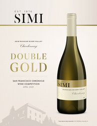 SIMI 2018 Russian River Valley Chardonnay Hot Sheet 2021 San Francisco Chronicle Wine Competition Double Gold