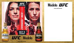 Modelo UFC Fight Night- Dern Vs Rodriguez Bottle Banner Template