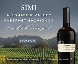 2018 SIMI Alexander Valley Landslide Cabernet Sauvignon Summer FY22 Rectangle Digital Banner - Shop Now CTA - 300x250 - Online Use Only, Not for print