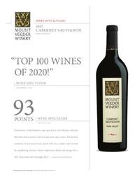 2017 Mount Veeder Winery Cabernet Sauvignon Hot Sheet Multi Score