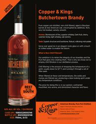 Copper and Kings Butchertown Brandy Sell Sheet