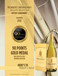 2020 Robert Mondavi Private Selection Buttery Chardonnay 1.5L Box Hot Sheet Blue Lifestyle 2021, Anthony Dias Blue 90 Points Gold Medal