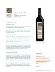 2019 Mount Veeder Cabernet Sauvignon NSRP Tasting Note