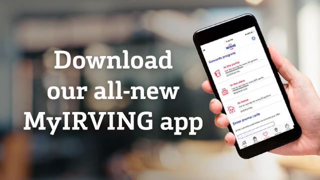 Download our all-new MyIRVING app.