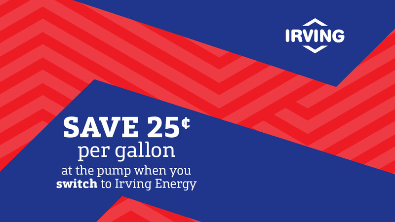 Creative for our third and final acquisition campaign in NE for 2019. We will continue offering our existing new customer offer- save 25 cents per gallon at the pump for up to a year when you switch to Irving Energy. Looking for an artwork and media refresh for the fall/winter time period. Campaign runs September 1 to December 31, 2019.