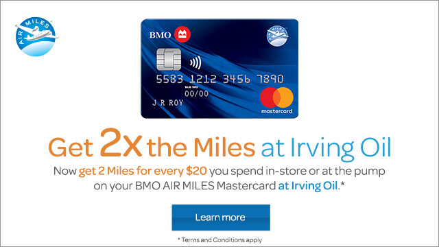 Online ads that were created by Air Miles for Irving Energy.