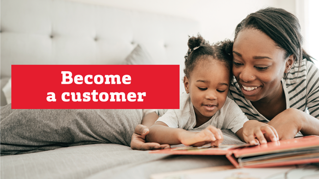 Become a customer.