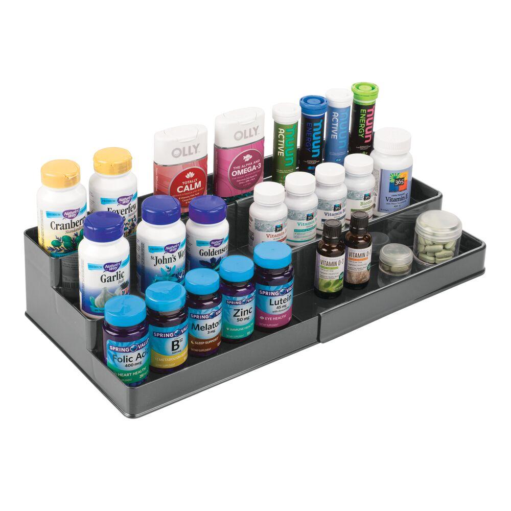 mDesign-Expandable-Kitchen-Cabinet-Pantry-Organizer-Spice-Rack thumbnail 26