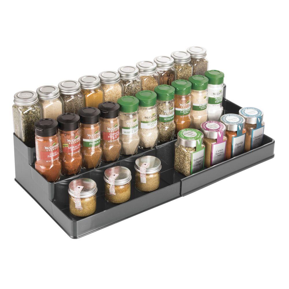 mDesign-Expandable-Kitchen-Cabinet-Pantry-Organizer-Spice-Rack thumbnail 25