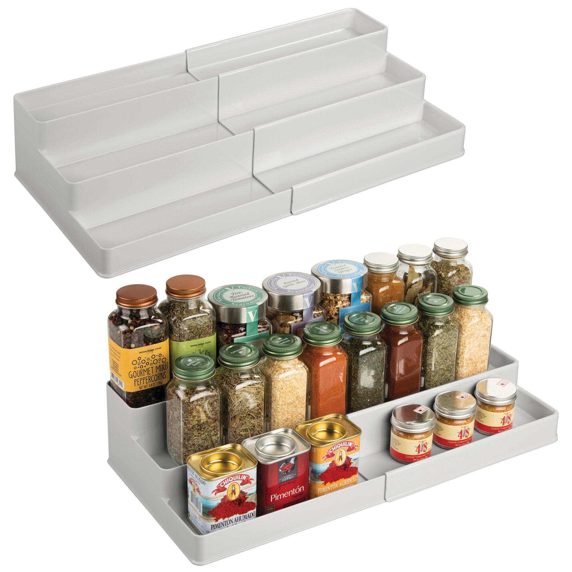mDesign-Expandable-Kitchen-Cabinet-Pantry-Organizer-Spice-Rack thumbnail 47