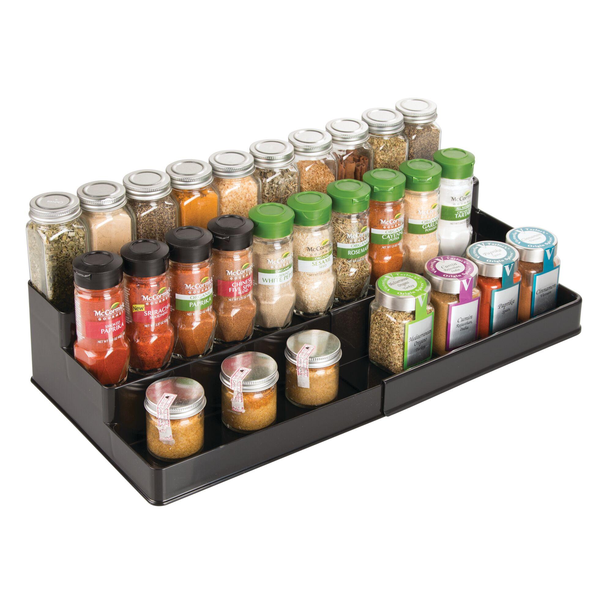 mDesign-Expandable-Kitchen-Cabinet-Pantry-Organizer-Spice-Rack thumbnail 8