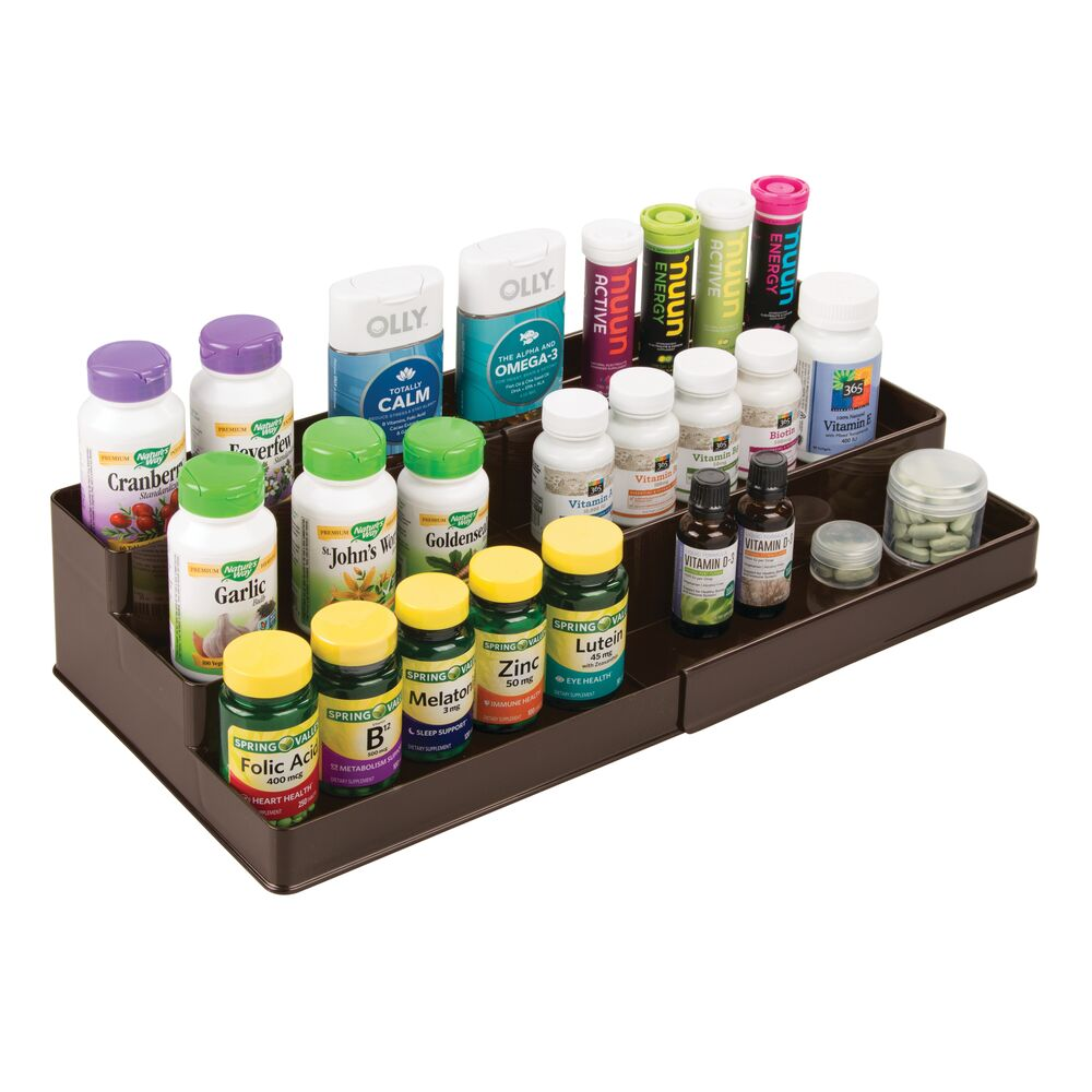 mDesign-Expandable-Kitchen-Cabinet-Pantry-Organizer-Spice-Rack thumbnail 14